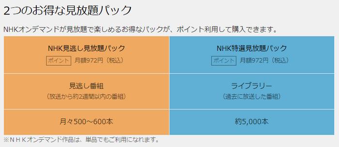 NHK見放題パック